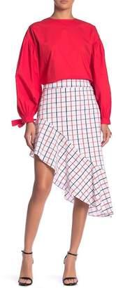 Grey Lab Asymmetrical Patterned Skirt