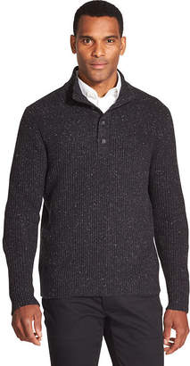 Van Heusen Button Mock Neck Top Sweater