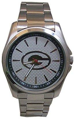 Avon Green Bay Packers Watch リリースメンズ3手シルバートーン腕時計