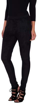Halston H By H by Faux Suede & Ponte Knit Pull-On Leggings