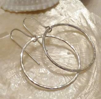 At Notonthehighstreet Anne Reeves Jewellery Delicate Hammered Silver Hoop Earrings