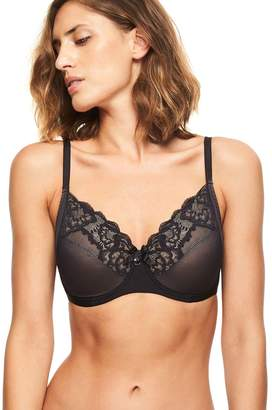 Chantelle Orangerie Underwire Lace Unlined Full Coverage Bra /