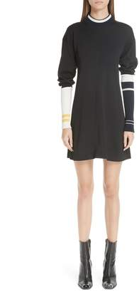 Calvin Klein Stripe Sleeve Logo Knit Dress