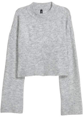 H&M Knit Mock Turtleneck Sweater - Gray
