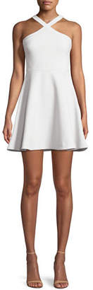 LIKELY Ashland Halter Sleeveless Fit-and-Flare Short Dress