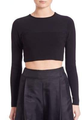 KENDALL + KYLIE Knit Cropped Open Back Sweater