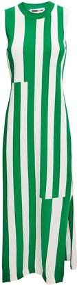 McQ Green Striped Midi Dress