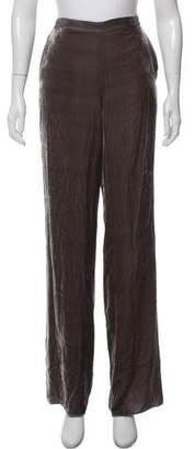 St. John Velvet Wide-Leg Pants