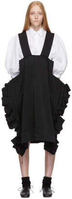Comme des Garcons Black Ruffled Oversized Suspender Skirt