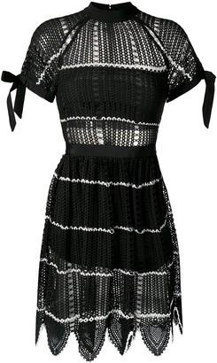 Self-Portrait mesh knit dress