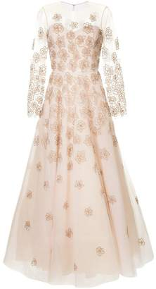 Sachin + Babi beaded floral evening dress