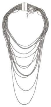 Fabiana Filippi Briilliant Multi-Strand Necklace - Silver