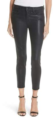 L'Agence Margot Coated Crop Skinny Jeans (Metro)