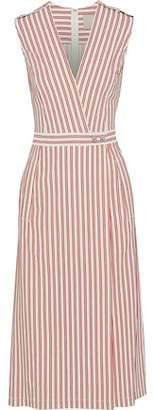 Jason Wu Wrap-effect Striped Poplin Dress