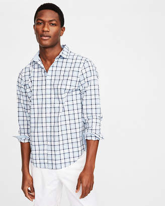 Express Classic Fit Plaid Soft Wash Shirt