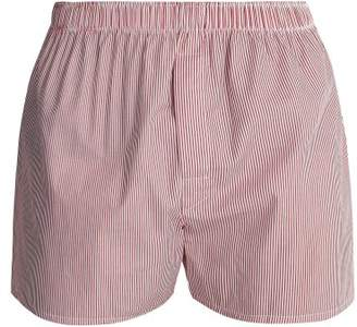 Sunspel Classic Cotton Boxer Shorts - Mens - Red