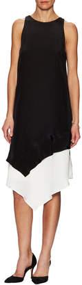 Hunter Bell Giselle Silk Split Asymmetric Dress