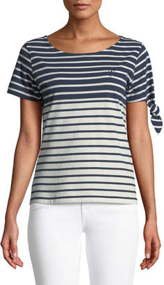 J.W.Anderson Breton Crewneck Short-Sleeve Striped Cotton Tee