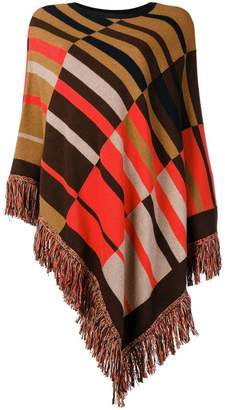Etro patterned knitted poncho