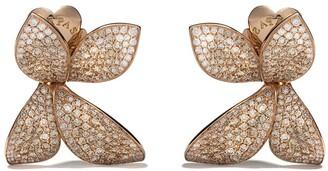 Pasquale Bruni 18kt rose gold Giardini Segreti diamond stud earrings
