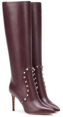 Valentino knee-high leather boots