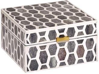 Mela Artisans Gramercy Box - Gray/White