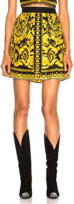 Versace Pleated Printed Mini Skirt