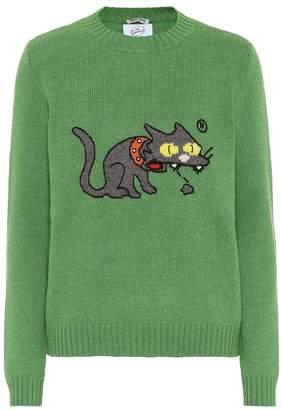 Miu Miu Intarsia wool sweater