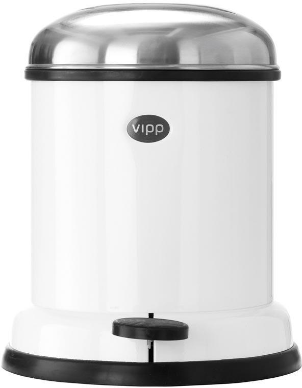 Vipp White 4 Liter/1 Gallon Trash Bin