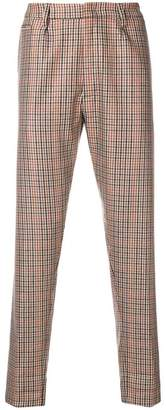 Dondup slim fit checked trousers