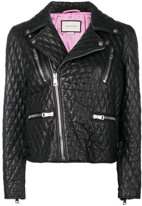 Gucci quilted biker jacket