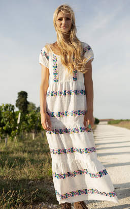 Alix of Bohemia One of A Kind Lucy Embroidery Dress Size: L