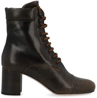 Miu Miu Lace Up High Ankle Boots
