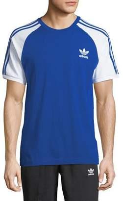 adidas 3-Stripes Raglan-Sleeve T-Shirt