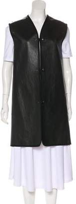 Maison Margiela Leather Button-Up Vest