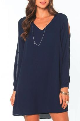 Everly Cut Out Sleeve Shift Dress $58 thestylecure.com