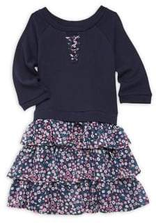 Lavender Little Girl's Sweatshirt Dress