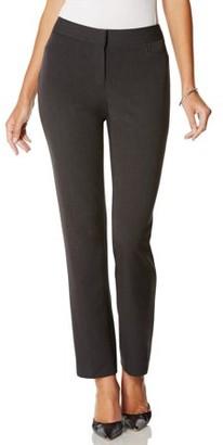 Rafaella Women's Curvy Fit Slim Leg Pant