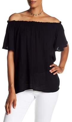 Susina Off-the-Shoulder Short Sleeve Blouse