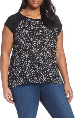 Vince Camuto Scattered Floral Tee