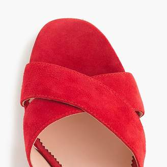 J.Crew Suede Penny sandals