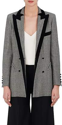 BLAZÉ MILANO Women's Everyday Checked Wool Double-Breasted Blazer