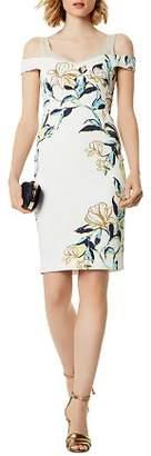 Karen Millen Floral Cold-Shoulder Sheath Dress