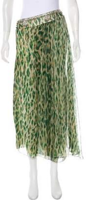 Christian Dior Printed Silk Skirt