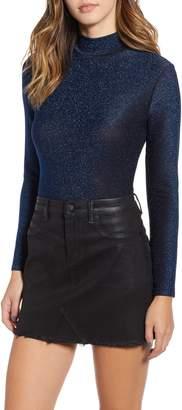Blank NYC BLANKNYC Star Woman Shimmer Mock Neck Bodysuit