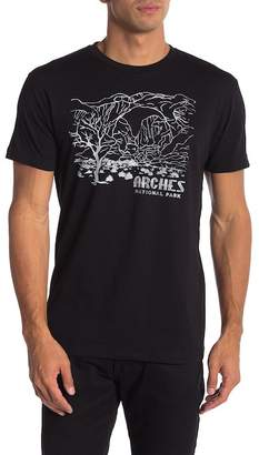 Body Rags Short Sleeve Arches National Park Outline Tee