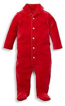 Ralph Lauren Baby Boy's Velour Footie
