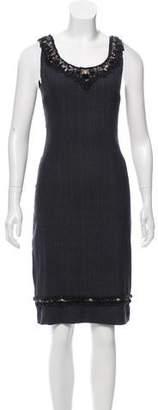 Prada Bead-Accented Midi Dress