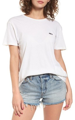 Women's Obey Jumbled Logo Tee $35 thestylecure.com