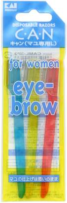 Kai C.A.N Disposable Razors Eye Brow For Women - Calm - 3P3